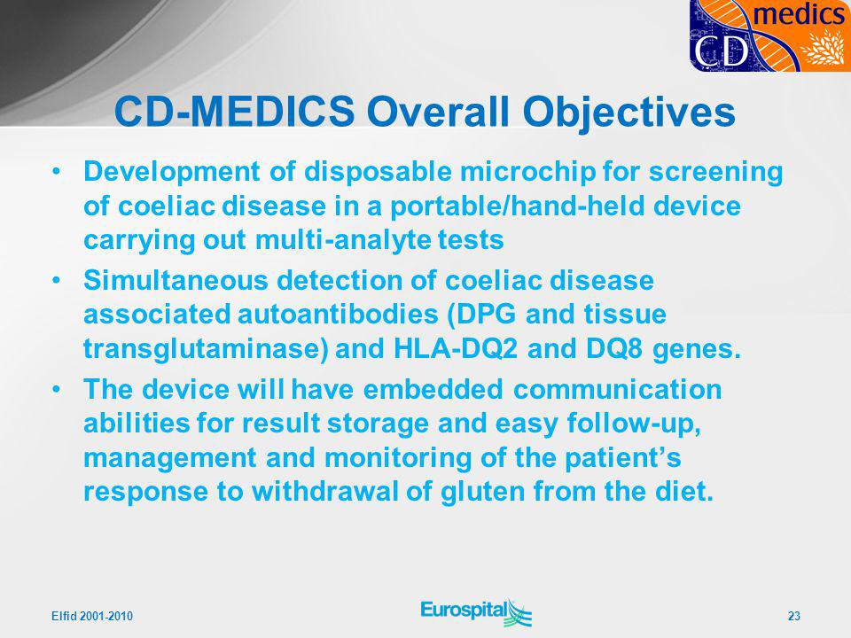 CD-MEDICS Overall Objectives