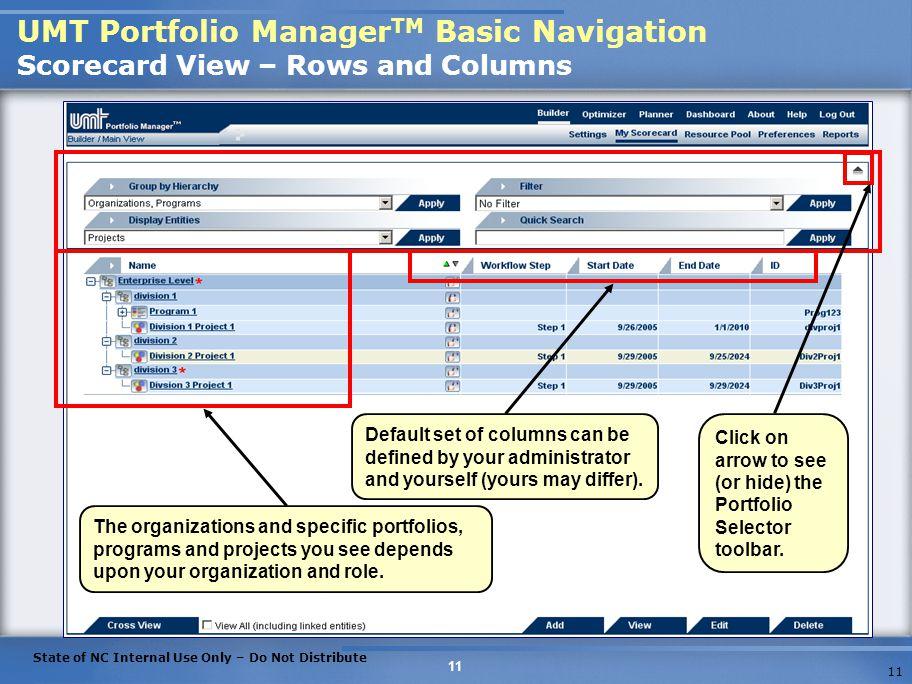 UMT Portfolio Management