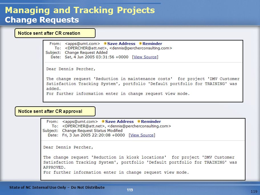 Managing and Tracking Projects Change Requests