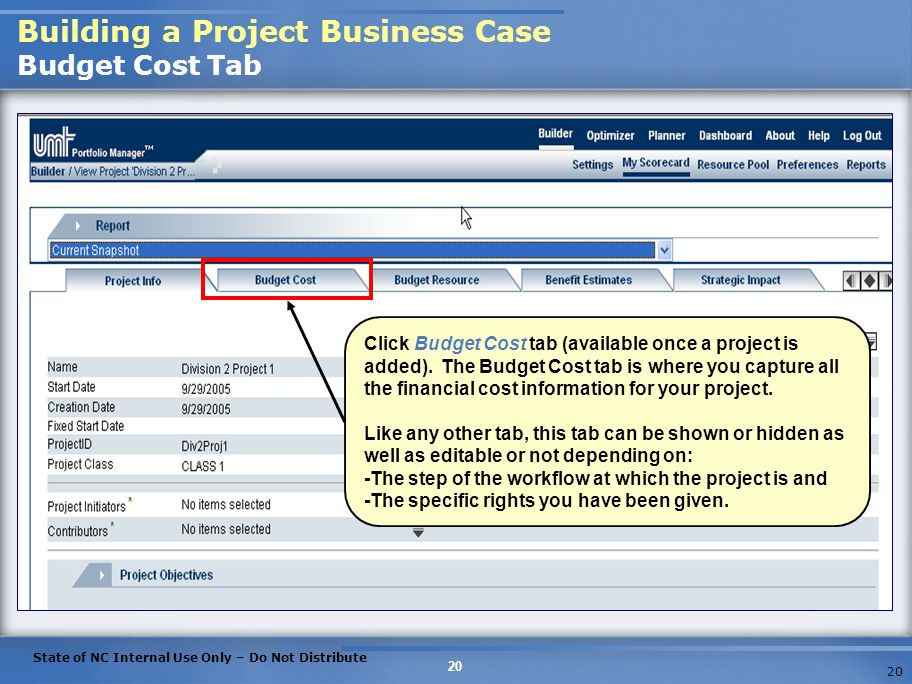 Building a Project Business Case Budget Cost Tab