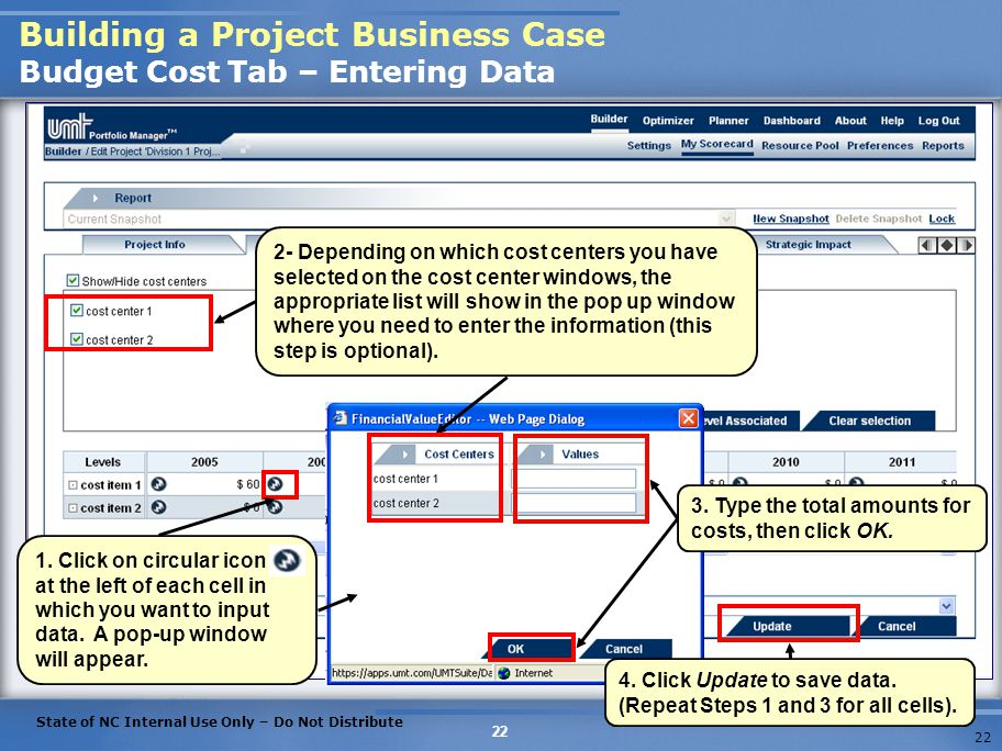 Building a Project Business Case Budget Cost Tab – Entering Data