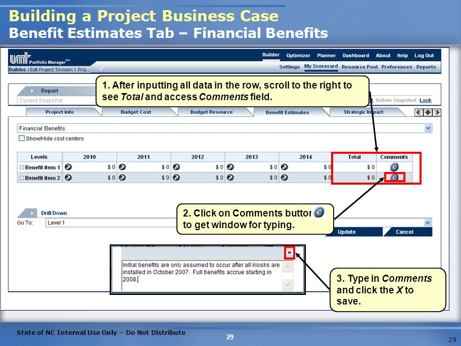 Building a Project Business Case Benefit Estimates Tab – Financial Benefits
