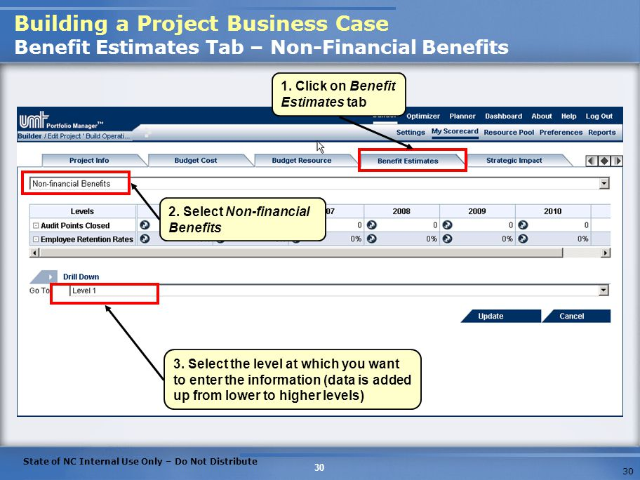Building a Project Business Case Benefit Estimates Tab – Non-Financial Benefits