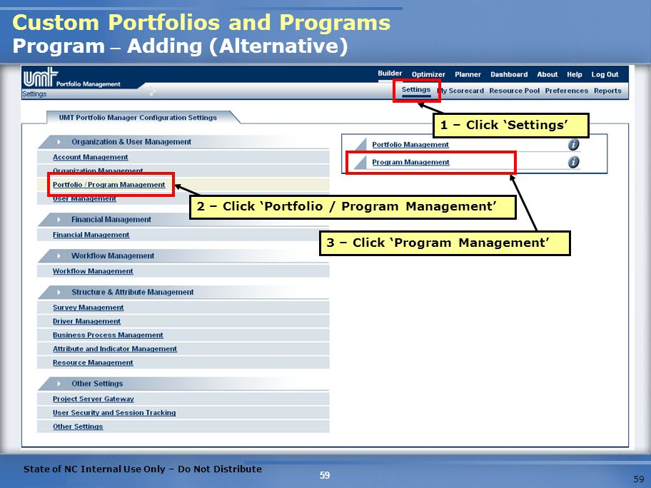 Custom Portfolios and Programs Program – Adding (Alternative)