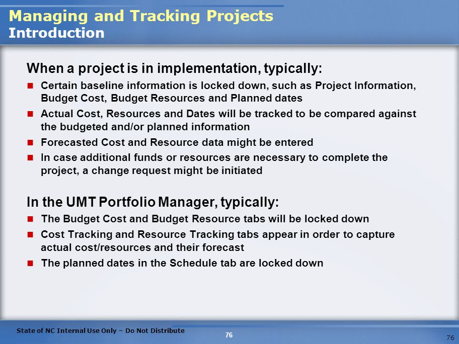 Managing and Tracking Projects Introduction