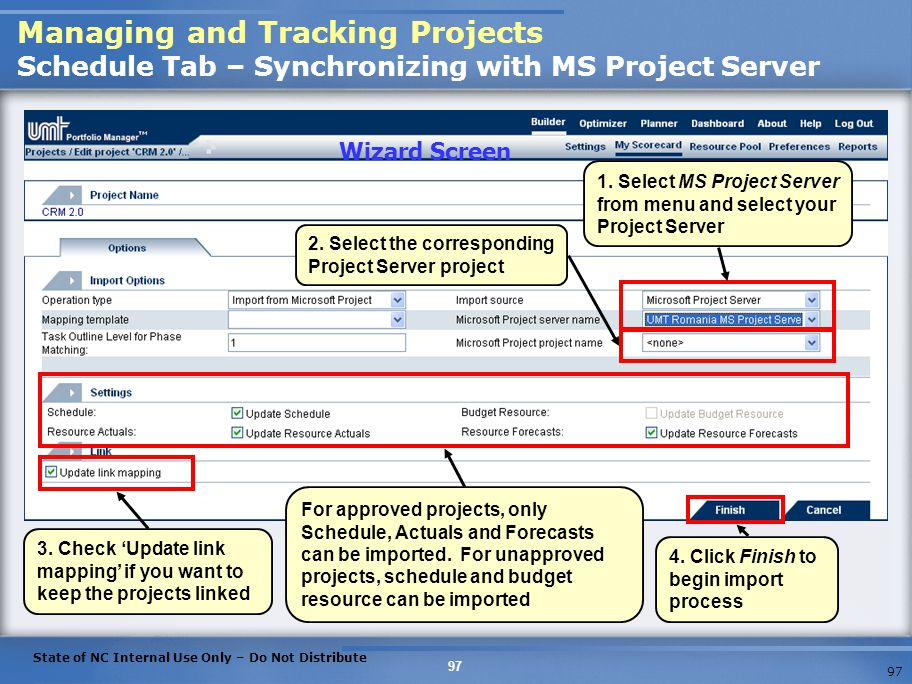 Managing and Tracking Projects Schedule Tab – Synchronizing with MS Project Server