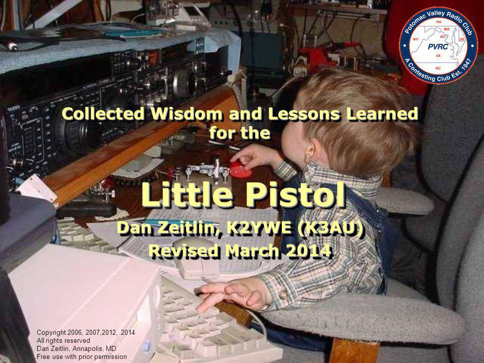 Collected Wisdom and Lessons Learned for the Little Pistol