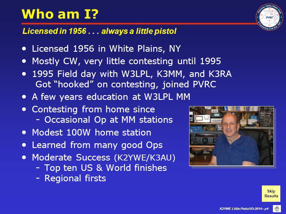 Who am I Licensed 1956 in White Plains, NY