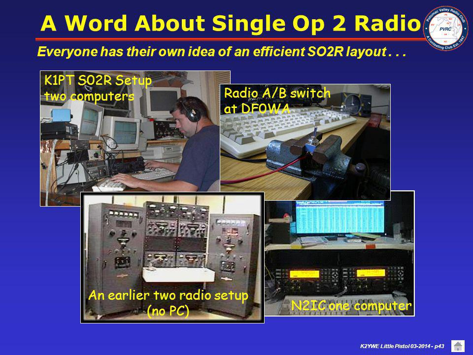 A Word About Single Op 2 Radio