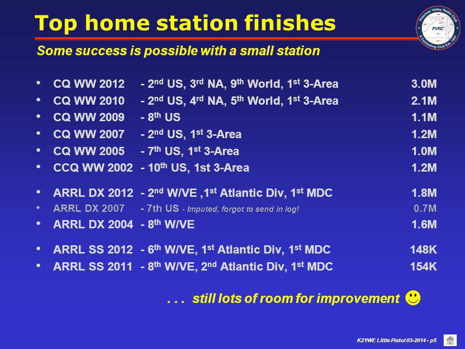 Top home station finishes