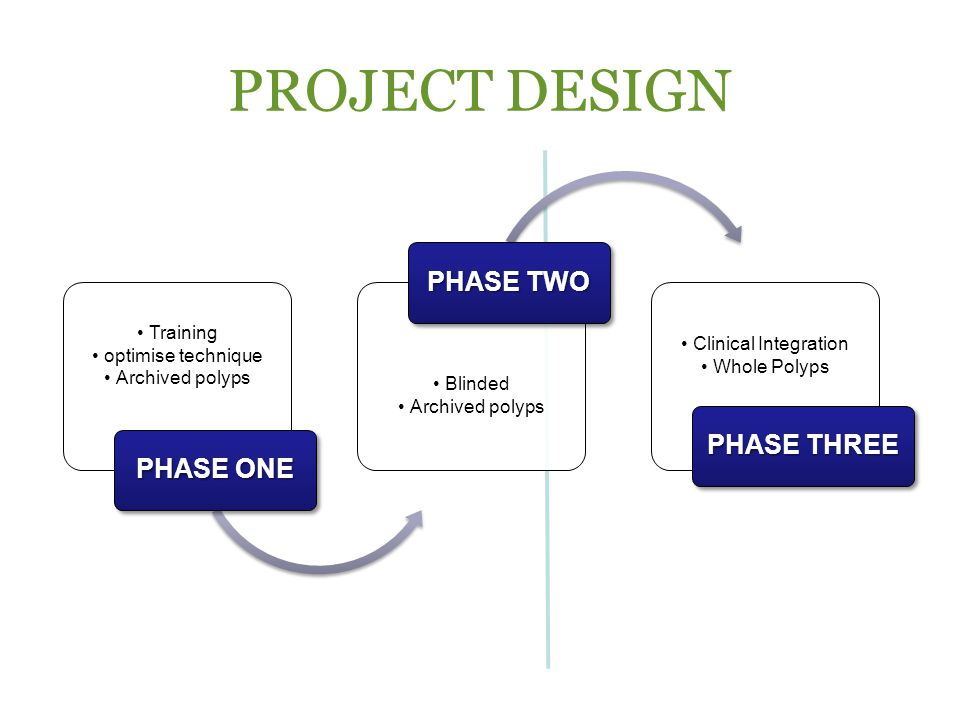 PROJECT DESIGN PHASE TWO PHASE THREE PHASE ONE Training