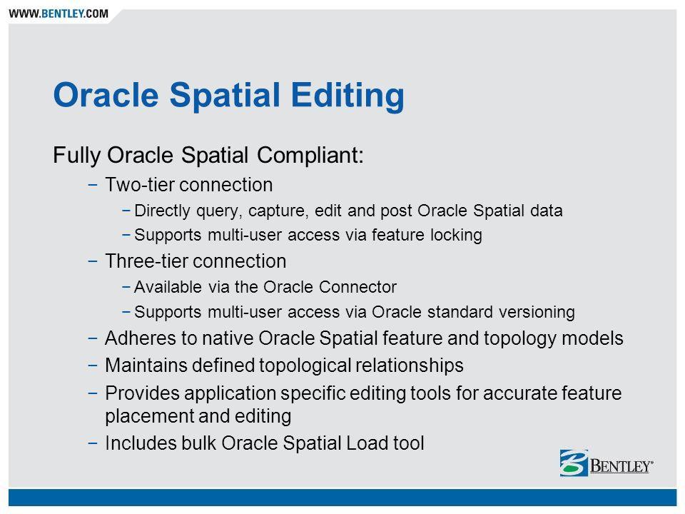 Oracle Spatial Editing