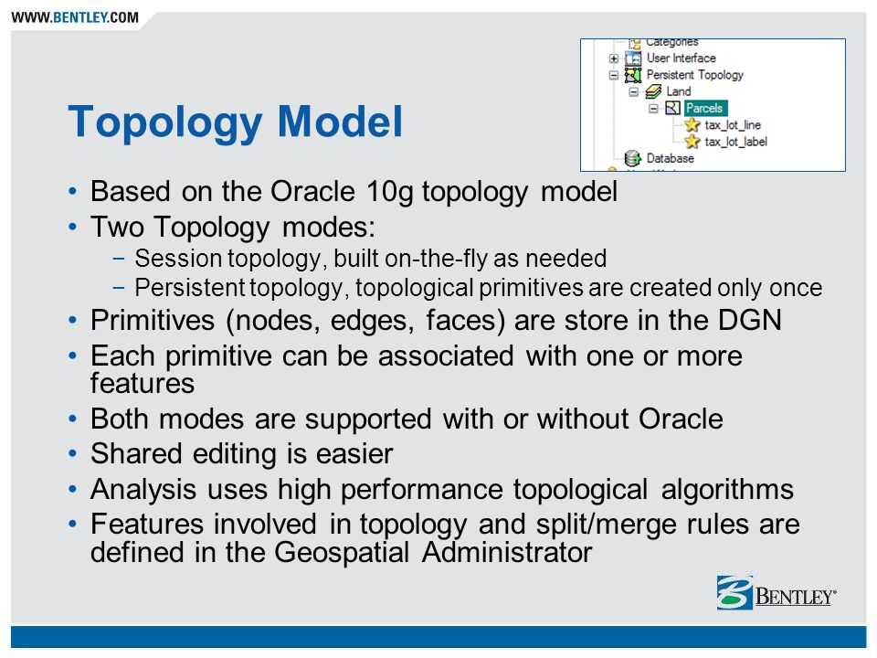 Topology Model Based on the Oracle 10g topology model