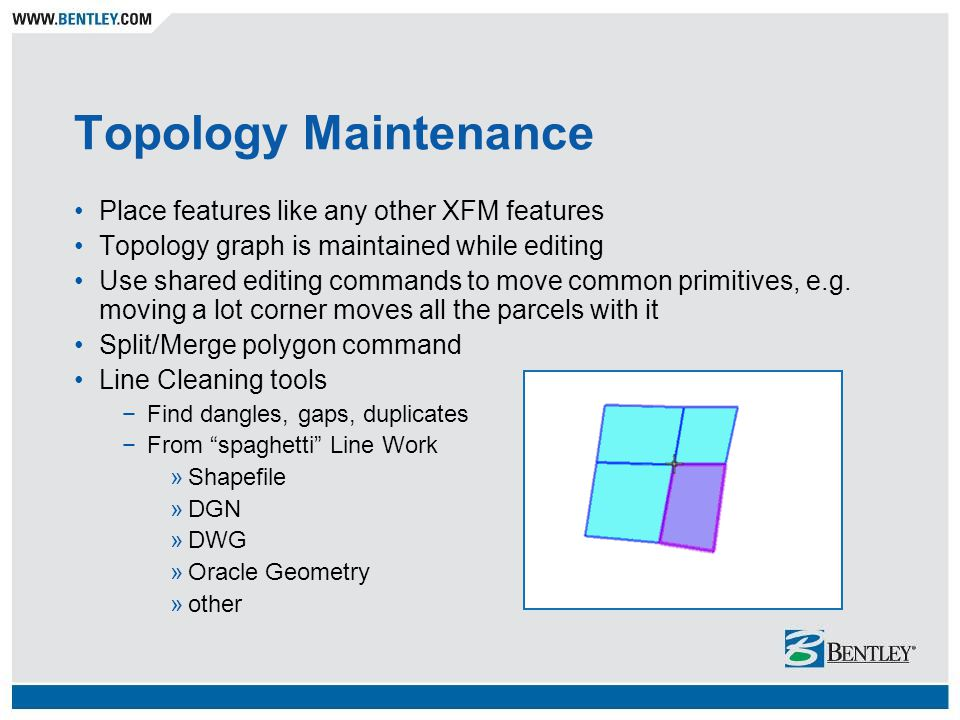 Topology Maintenance Place features like any other XFM features