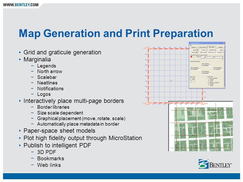 Map Generation and Print Preparation