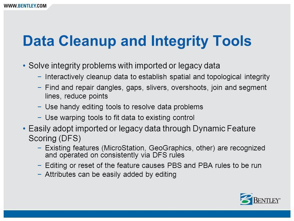 Data Cleanup and Integrity Tools