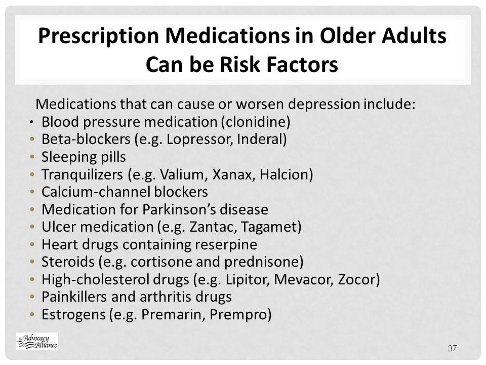 Prescription Medications in Older Adults Can be Risk Factors