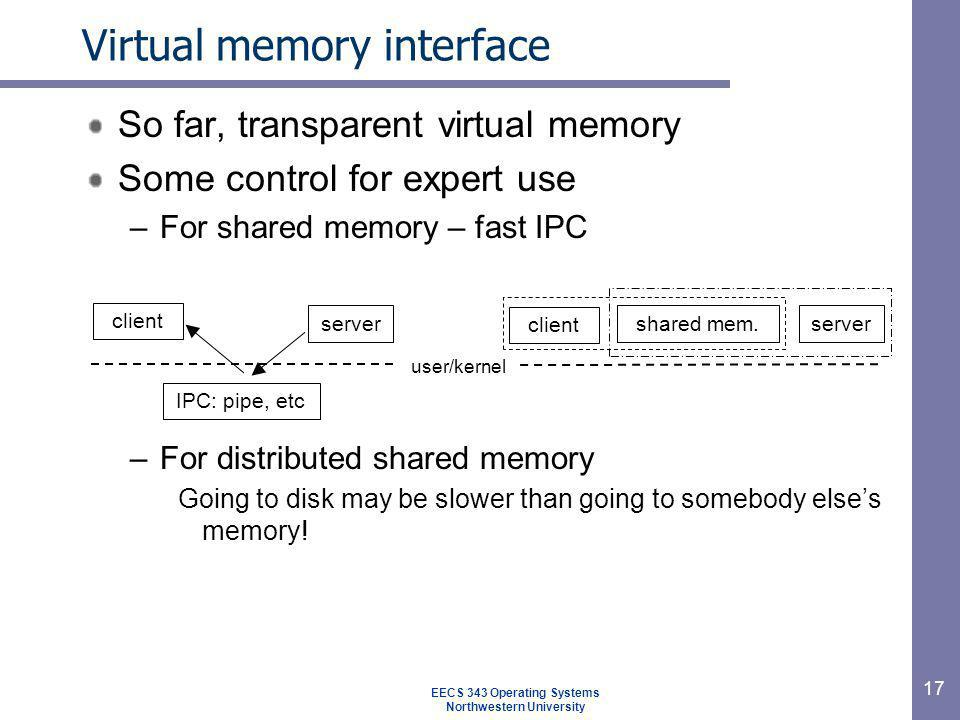Virtual memory interface