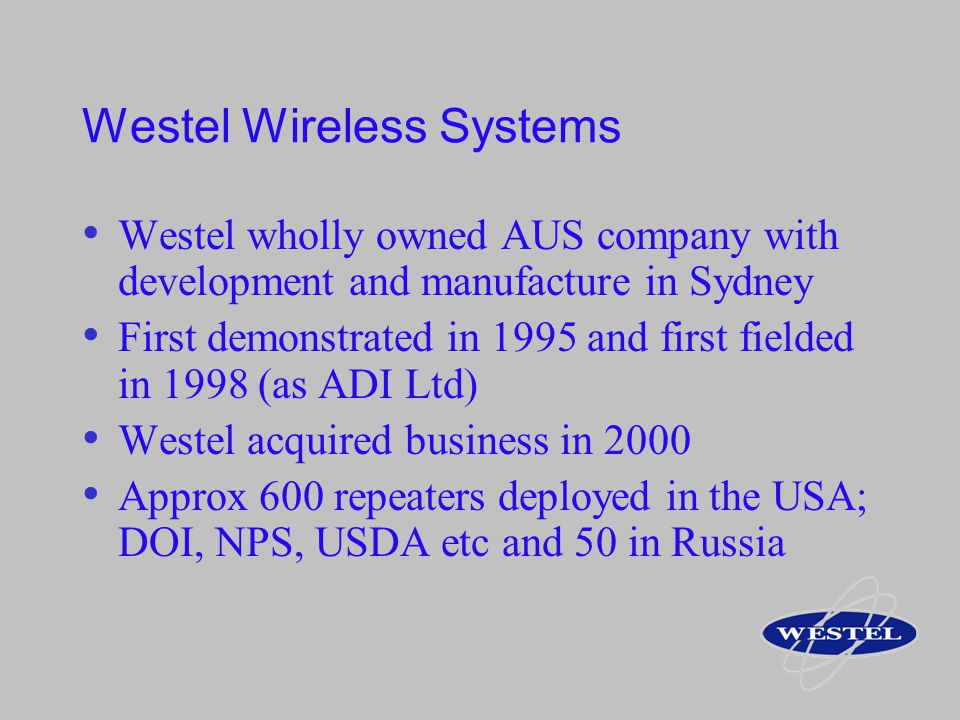 Westel Wireless Systems