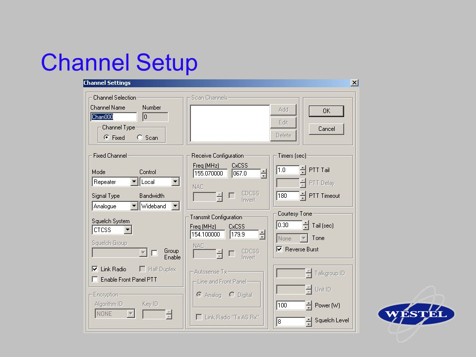 Channel Setup