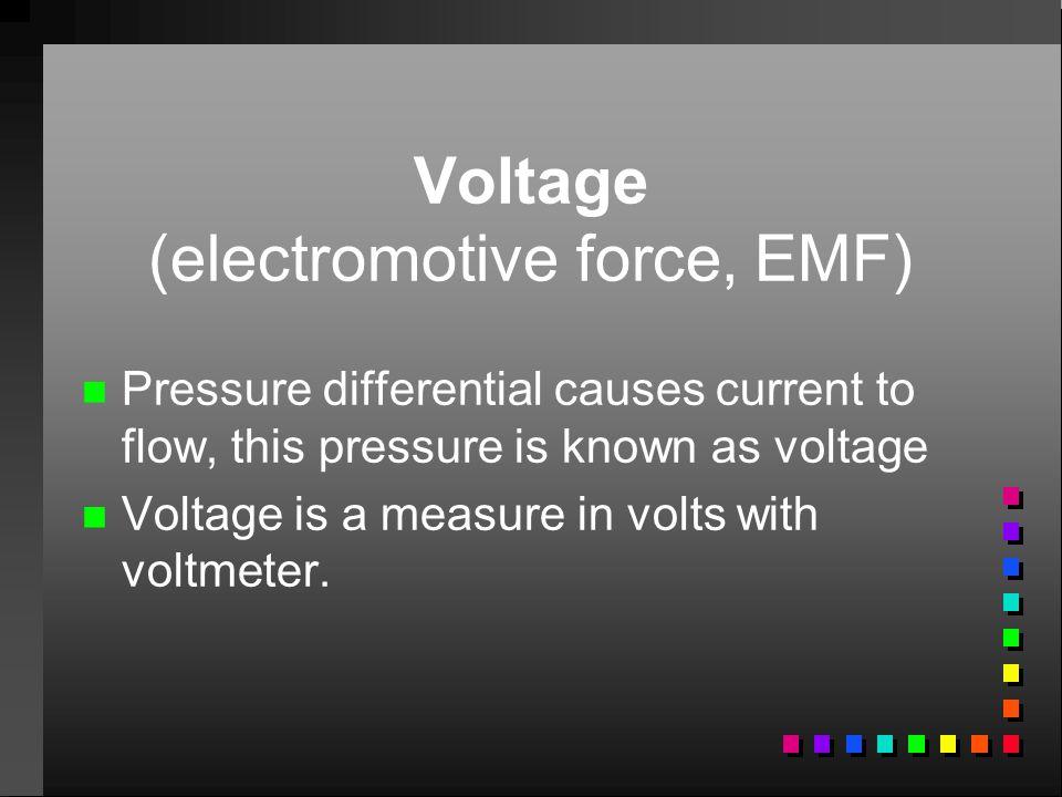 Voltage (electromotive force, EMF)