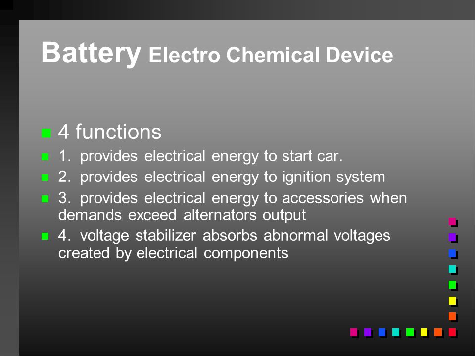 Battery Electro Chemical Device