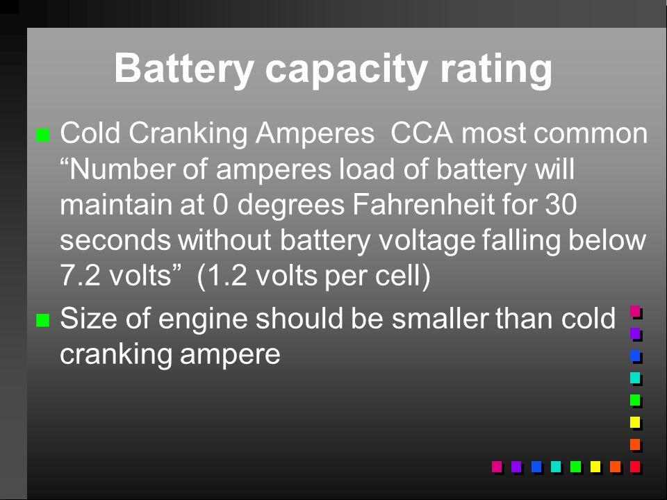 Battery capacity rating