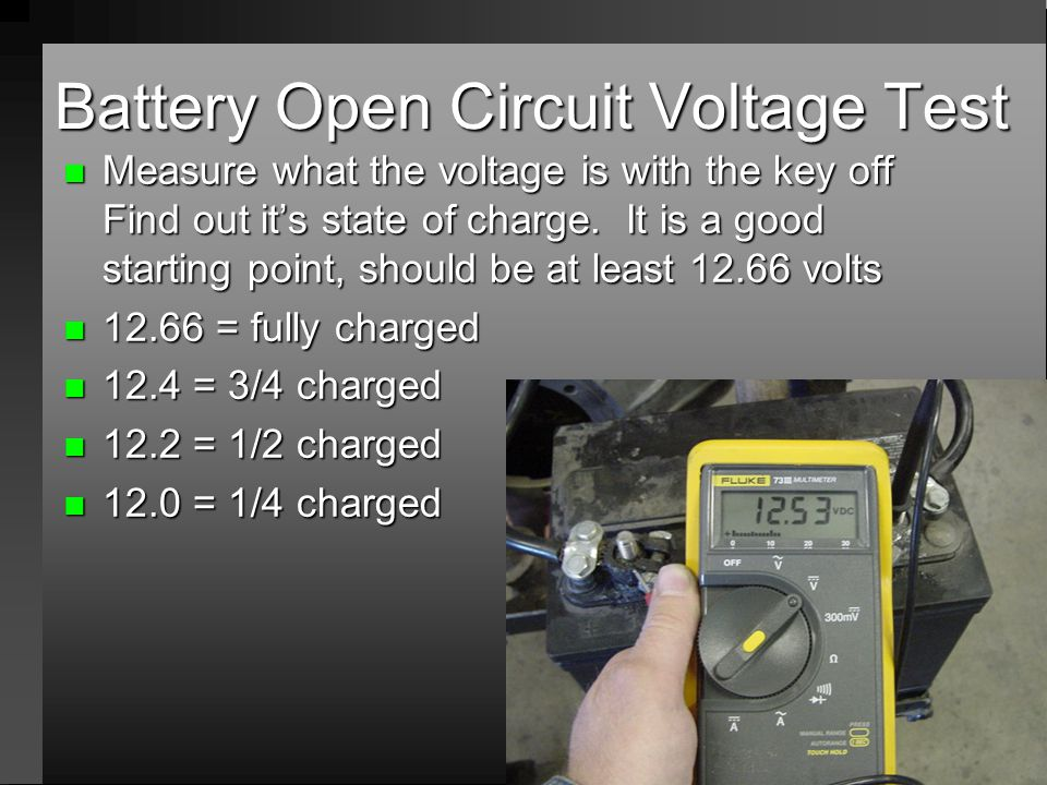 Battery Open Circuit Voltage Test