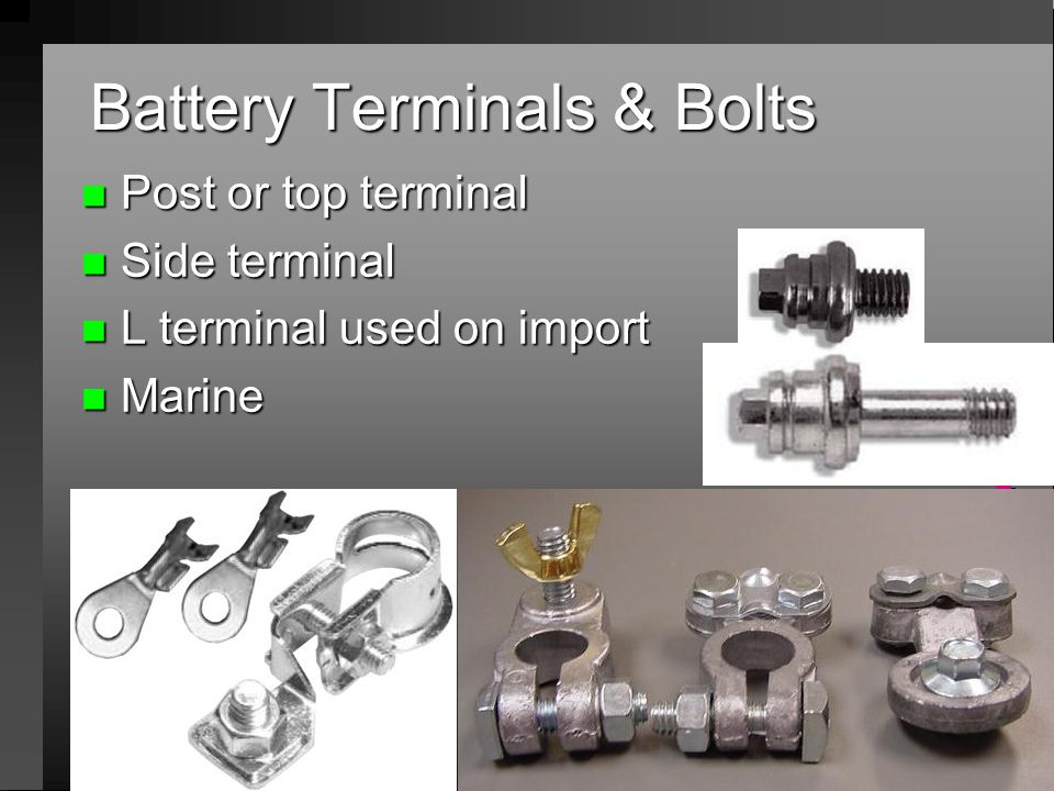Battery Terminals & Bolts