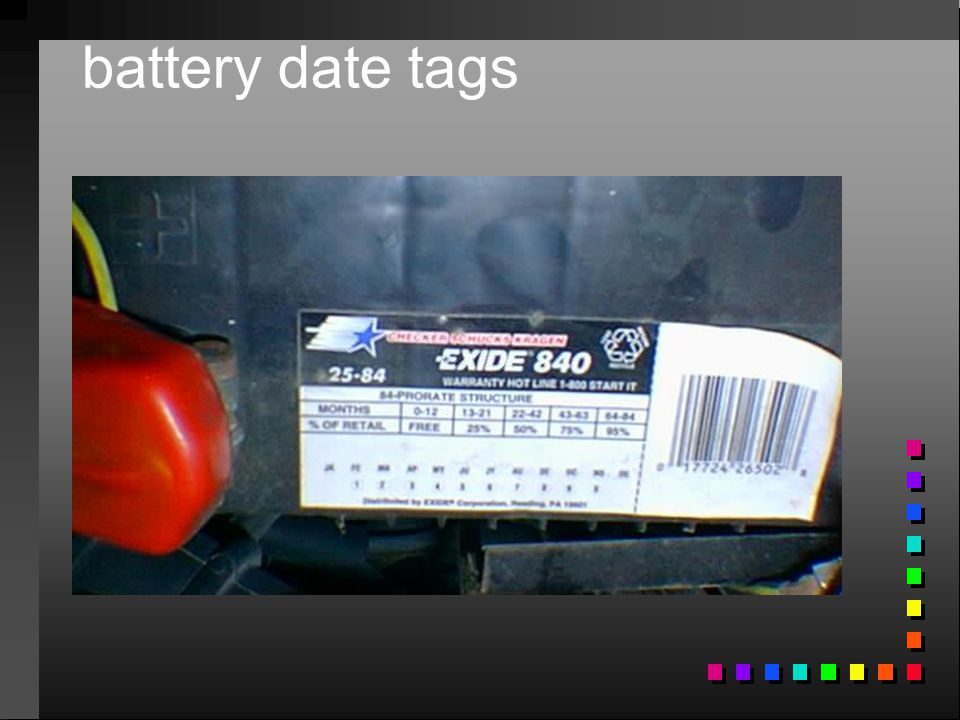 battery date tags