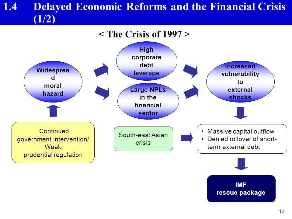 1.4 Delayed Economic Reforms and the Financial Crisis (1/2)