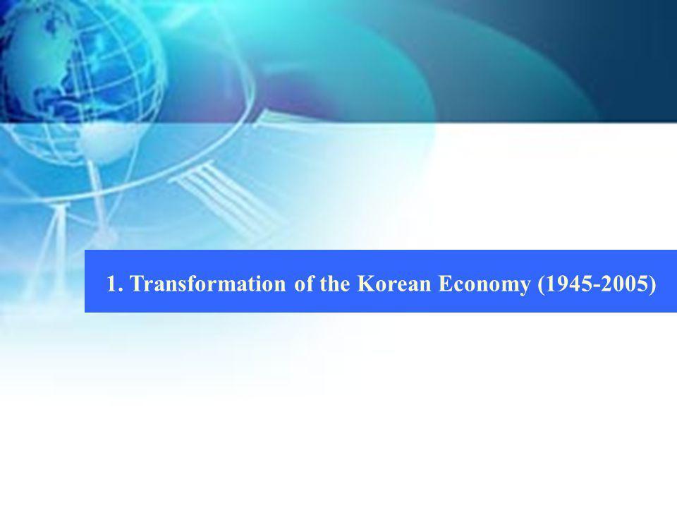 1. Transformation of the Korean Economy (1945-2005)