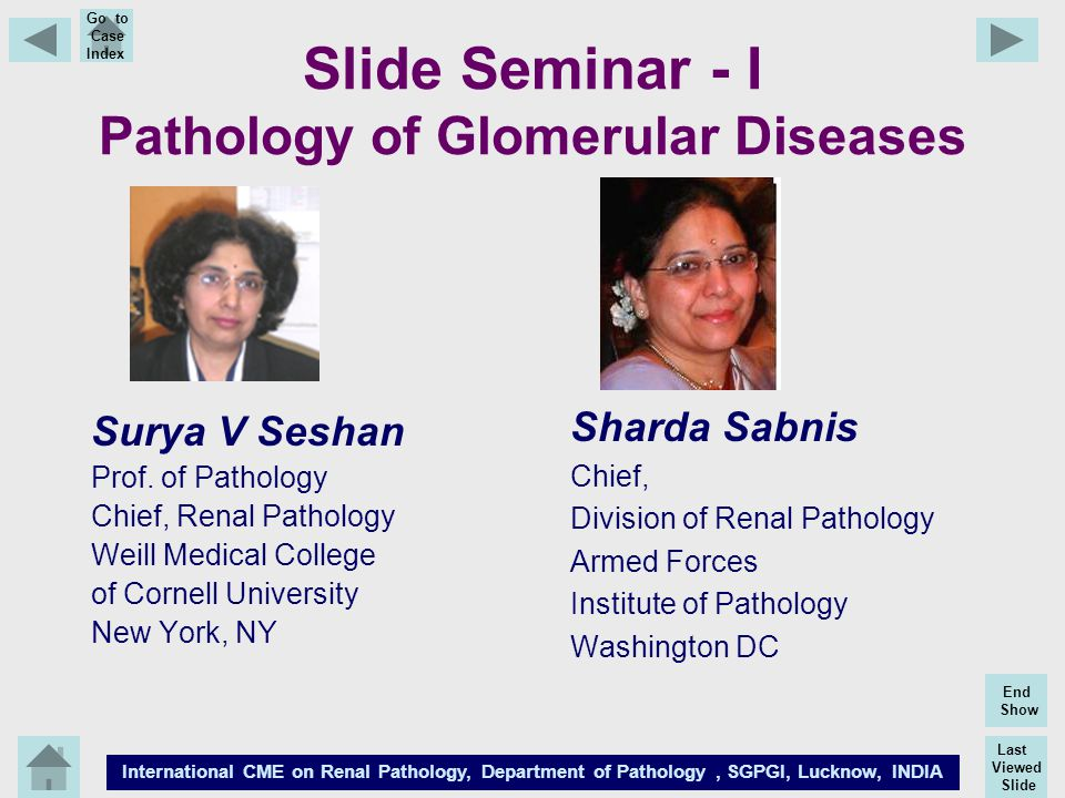 Slide Seminar - I Pathology of Glomerular Diseases