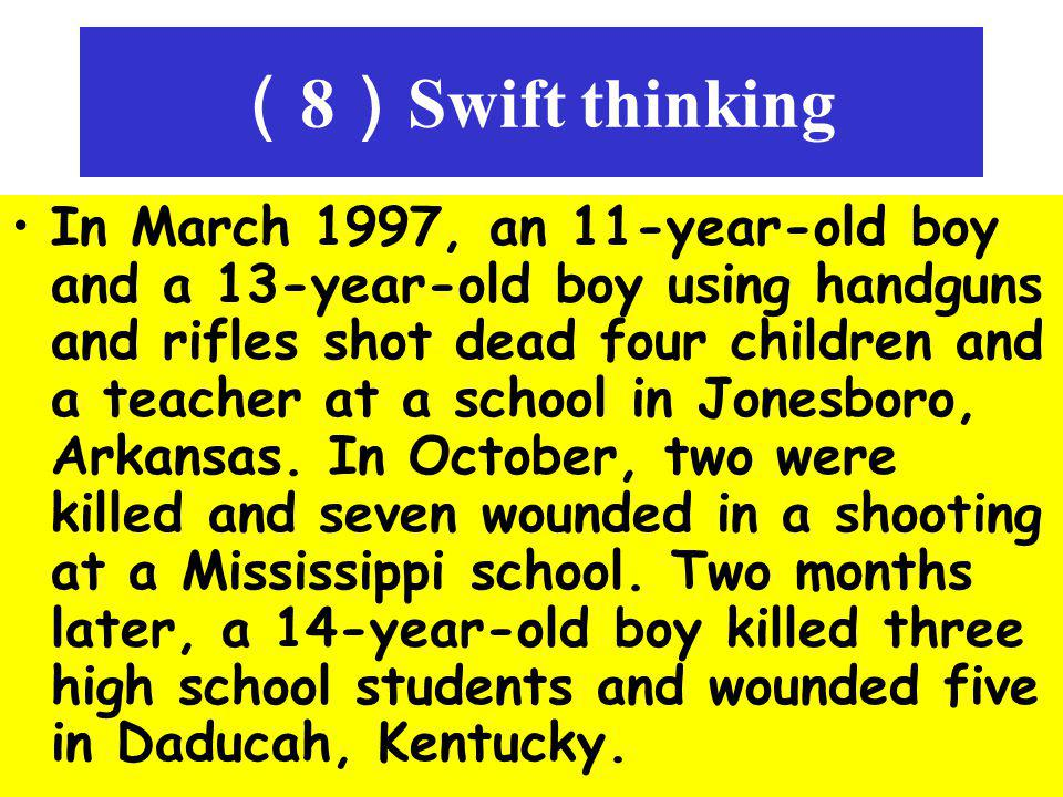 (8)Swift thinking