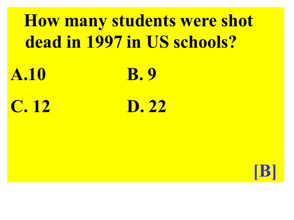 How many students were shot dead in 1997 in US schools