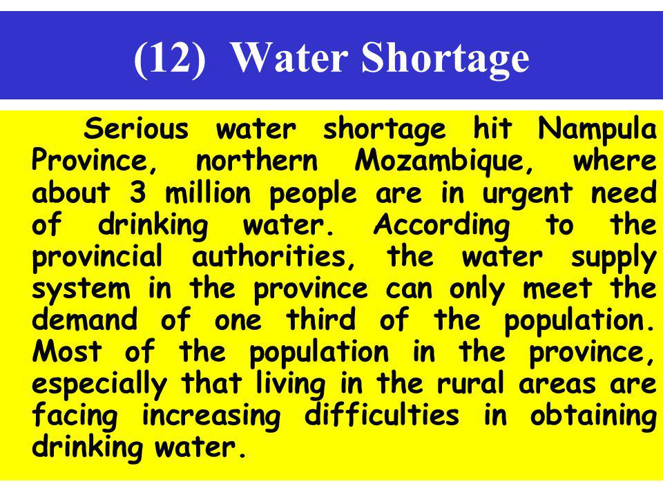 (12) Water Shortage