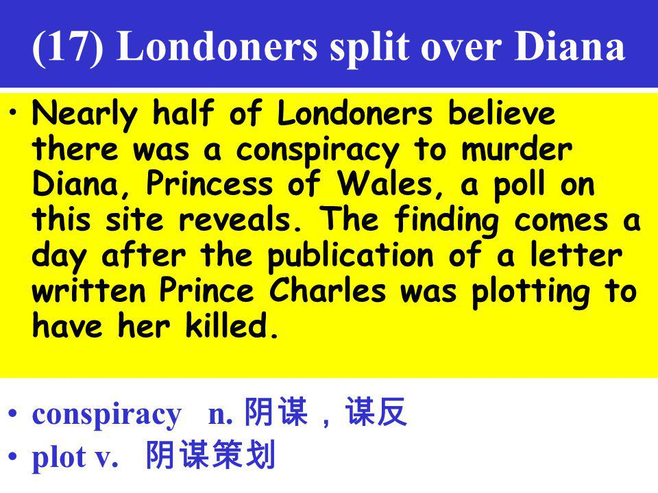 (17) Londoners split over Diana