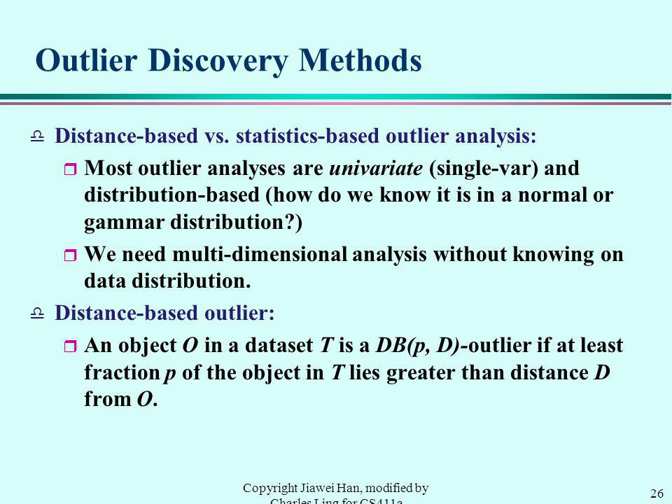 Outlier Discovery Methods