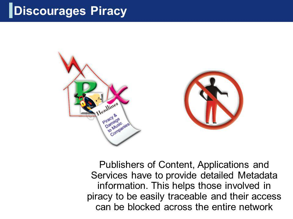 Discourages Piracy