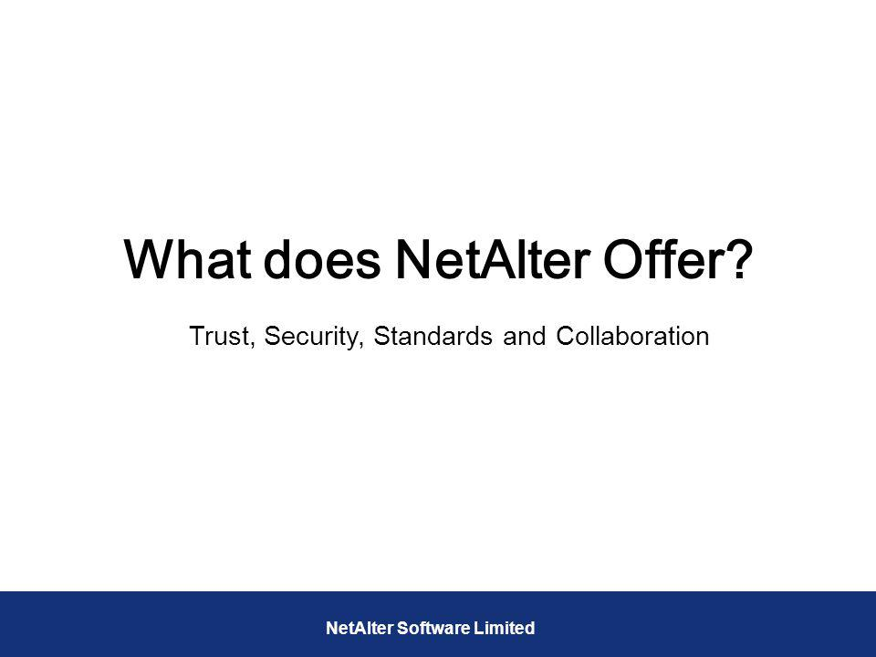 What does NetAlter Offer