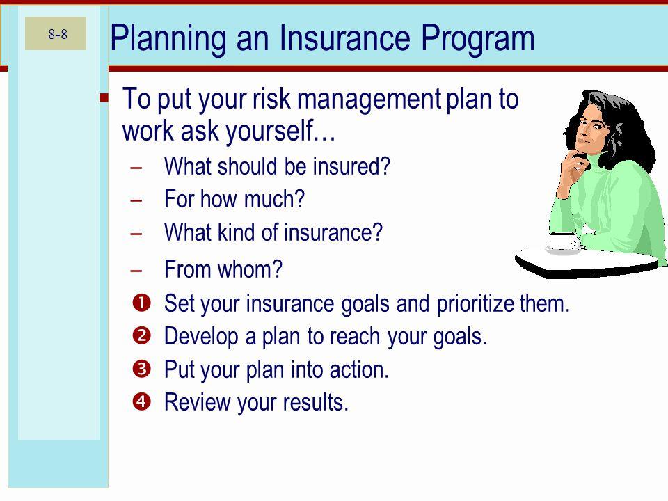 Planning an Insurance Program