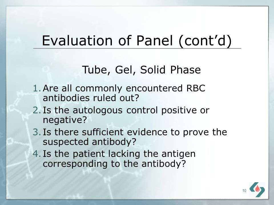 Evaluation of Panel (cont'd)