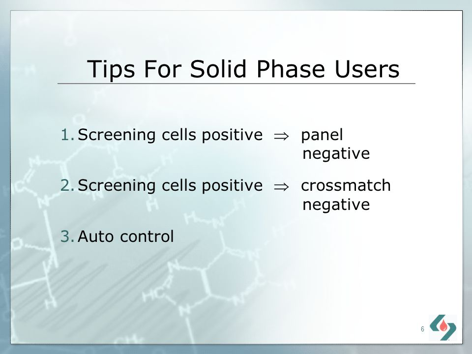 Tips For Solid Phase Users