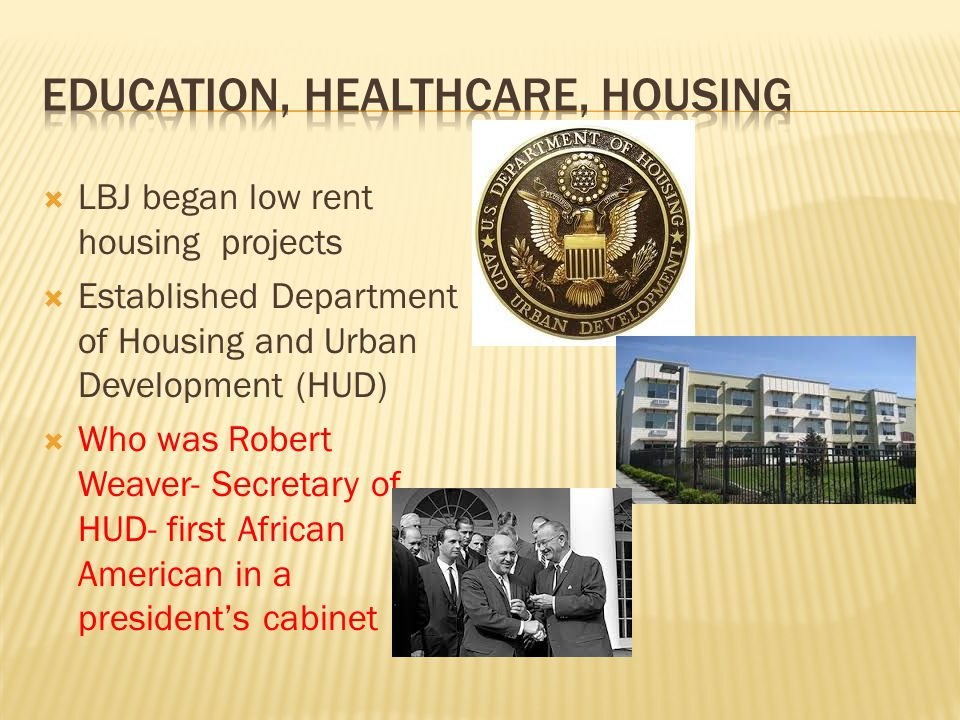 Education, Healthcare, Housing