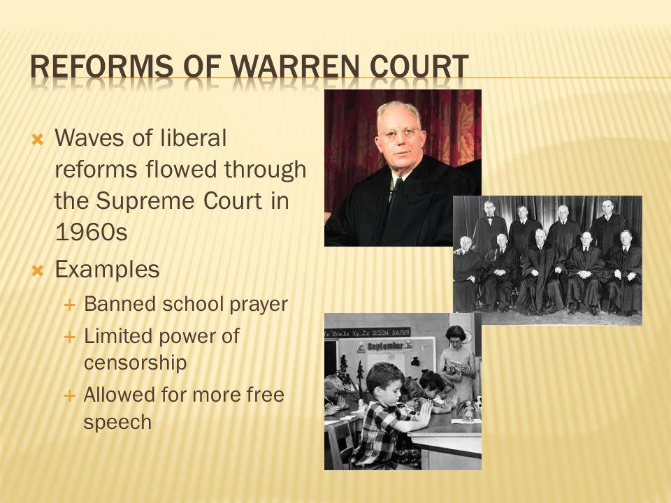 Reforms of Warren Court