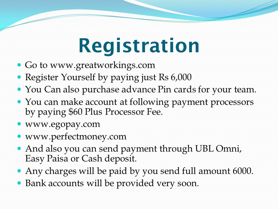 Registration Go to www.greatworkings.com
