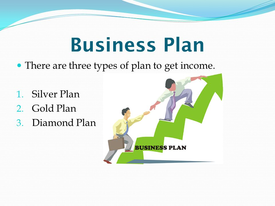 Business Plan There are three types of plan to get income. Silver Plan