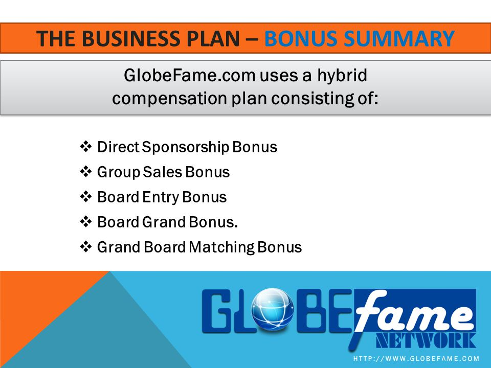 The business plan – bonus summarY