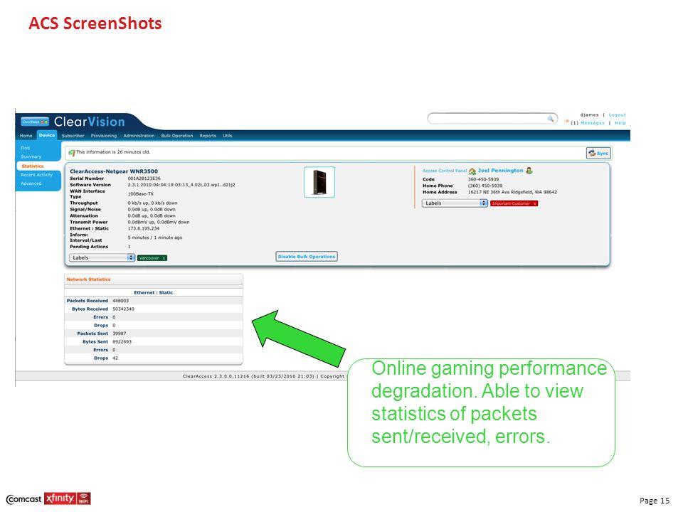 ACS ScreenShots Online gaming performance degradation.