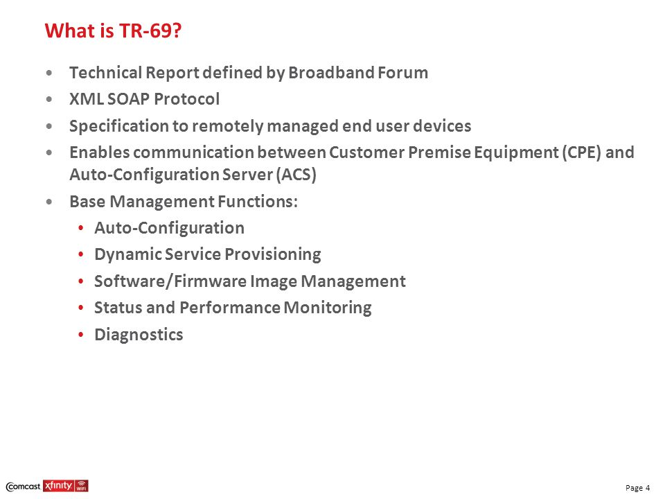 What is TR-69 Technical Report defined by Broadband Forum